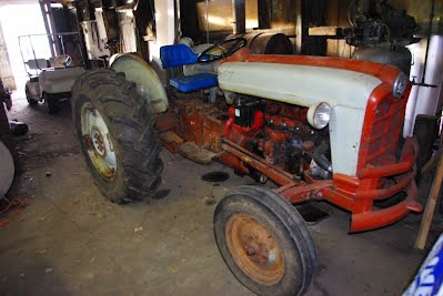 Tractor as found